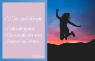 3 C's of Contented people