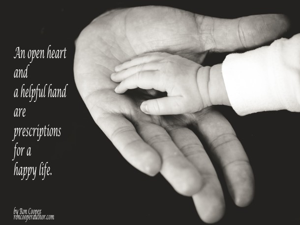An open hand and a helpful heart