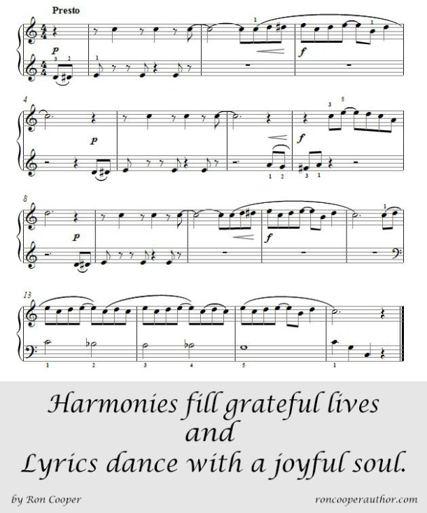 Harmonies fill grateful lives