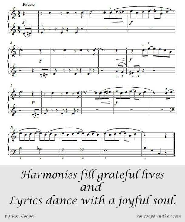 Harmonies fill grateful lives