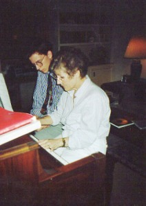 Fran and Jake at the piano